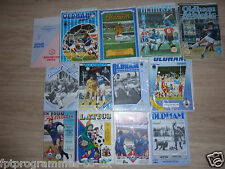 Oldham Home Programmes 1980's -  Select from list