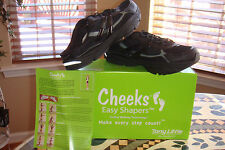 NEW TONY LITTLE CHEEKS EASY SHAPERS BODY TONING SPORT MULES CLOGS BLACK