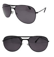 Sun Readers Designer Jet Black Pilot Style UV Protected Tinted Reading Glasses