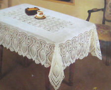 CROCHET VINYL LACE Tablecloth 54 60 90 104 Table Cloth Bea at Home Vintage Chic
