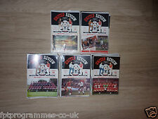 Manchester United ( Man Utd )  Home Programmes 86/87 to 89/90.  Select from list