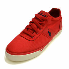 Polo Ralph Lauren Hanford Shoes Mens Casual Pony Logo Low Top Sneaker Red New