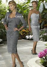 In Stock Mother Of The Bride Lace Dresses With Jacket For Wedding Party Gowns