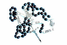 Brown or Black Our Father with Mysteries Wood Rosary Beads Rosaries