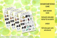 Baby Shower Game - Oh Baby Baby Bonus - Several packages available