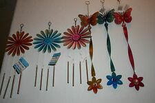 Butterfly Wind Twister with Crystal, Flower Wind Chime by garden collection, New