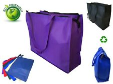 Extra Large Recycled Eco Friendly Grocery Shopping Tote Bag Book Bags Zipper 20""