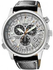Citizen Eco-Drive Nighthawk Chrono Aviator Euro Radio Sapphire Watch AS4020-44H