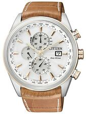 Citizen Eco-Drive Global Radio Controlled AT Sapphire Chrono Watch AT8017-08A