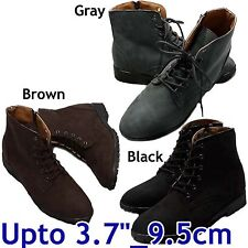 "HEIGHT INCREASING ELEVATOR SHOES_3.7"" / 9.5 cm_Designer made_W-243_casual boots"