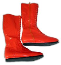 Red Mens Lace Up Boots for Pro Wrestling Costume