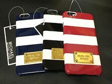 MICHAEL KORS STRIPE CASE COVER FOR IPHONE 6 + 6 PLUS MK RETAIL BOXED AND TAGGED