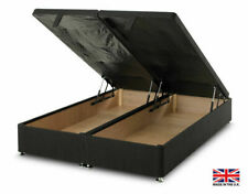 exclusive bed-world black ottoman foot lift divan bed base 3ft single4ft6 double