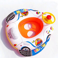 Wheel horn Car Seat Boat baby kid child Swimming aid ring float pool inflatable