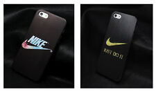 Nike iPhone 5 / 5S Case Black Graphite Gold Text Just Do it Swoosh (Brand New)