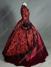 Marie Antoinette Victorian Dress Party Gown Theatre Women Halloween Costume 143