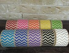 "2-1/2"" Chevron Burlap Wired Ribbon-You Choose The Color-5 Yd Rolls-Pinterest!"