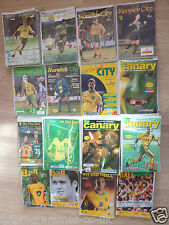 Norwich City  Home Programmes 1990/91 to 2007/08.  Select from list