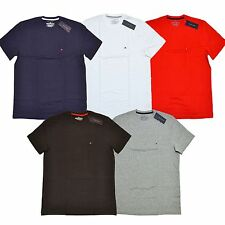 Tommy Hilfiger Lot of 10 Mens T-Shirts Classic Crew Neck Tees Black White Navy