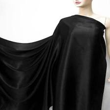 "44"" Wide 19momme 100% Pure Silk Satin Charmeuse fabric Material Black Crepe Back"