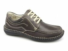 Dr Keller JUPITER Mens Leather Suede Padded Lace Up Comfy Casual Shoes Brown New