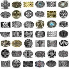 SBUM0333 CELTIC ETERNITY KNOT TRINITY CROSS FLORAL COWBOY COWGIRL BELT BUCKLE