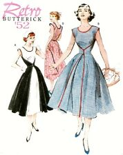 V EASY SEWING PATTERN  WALK AWAY 50s WRAP DRESS BUTTERICK 4790 GB Sewing Bee