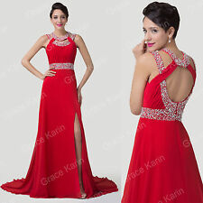 New Chiffon Beaded Sexy Formal Long Bridesmaid Evening Wedding Gown Prom Dresses