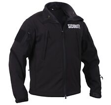 security jacket soft shell black special ops waterproof shell rothco 97670