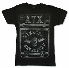"AVENGED SEVENFOLD ""CASE"" BLACK T SHIRT NEW OFFICIAL ADULT A7X"