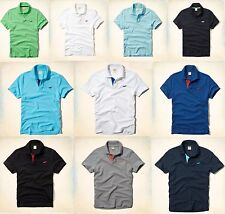 NWT HOLLISTER BY ABERCROMBIE MEN Solid Color Polo, Size S,M, L, XL