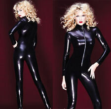 Plus Size M/L/XL/2XL Gothic Punk Overall Catsuit Costume Romper Teddy Clubwear