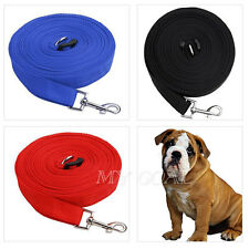 Pet Dog Leash Lead Puppy Extendable Training Obedience Rope Collar 50ft/15m Long