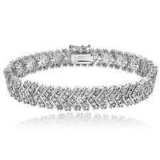 1.00ct TDW Diamond Chevron Bracelet