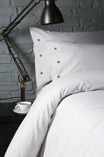 Grey & White Stripe Bedding / Duvet / Quilt & Pillowcase Set - 100% Cotton