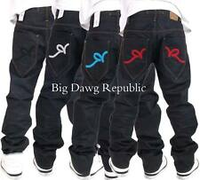 "ROCAWEAR ""DOUBLE R"" MENS BOYS TONY FIT JAYZ JEANS TIME IS NAPPY MONEY STYLE WEAR"