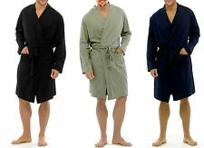 RRP£24.99 MENS LIGHTWEIGHT 100%COTTON LOUNGEWEAR JERSEY WRAP DRESSING GOWN 8319