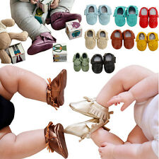 Baby Tassel Soft Sole Leather Shoes Infant Boy Girl Toddler Moccasin 6-24 Months