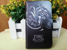 FIRE AND BLOOD Dragon Game of Thrones PU Leather Flip Case Cover For LG Google