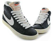 Nike Womens Blazer Mid Leather Vintage Shoes Black Sail Sneakers 525366 002