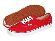 NEW MEN & WOMEN VANS CLASSIC AUTHENTIC RED WHITE ORIGINAL FREE SHIPPING IN USA