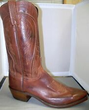 MENS LUCCHESE  #N1596 TAN BURNISHED RANCH COWBOY BOOT  - BART