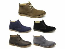 Hush Puppies DESERT II Mens Suede Lace Up Water Resistant Ankle Desert Boots New