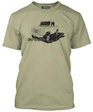 Land Rover Defender LandRover 90 110 130 Series 3 4x4 Mens Camel T-Shirt NEW