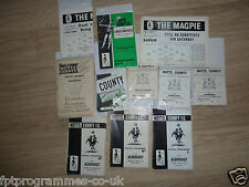 Notts County Home Programmes 1960'S  Select from list