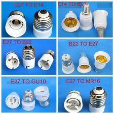 E12/E14/E27/B22/MR16/GU10 LED CFL Light Lamp Bulb Base Socket Adapter Converter
