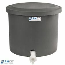 "10-12 Gallon Polyethylene Shallow Tank with Cover & Spigot - 14"" High"