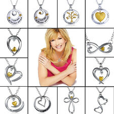 Charms I Love you to the moon and back Silver Heart Crystal Bib Necklace Jewelry