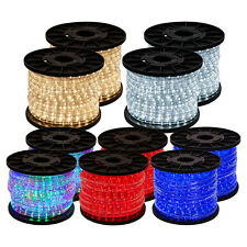300ft LED Rope Light 2-Wire Home In/Outdoor Garden Christmas Boat Party Lighting