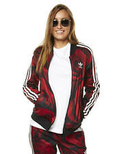 New Adidas Originals Women's Red Clash Womens Tracktop Women's Hoodie Red